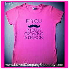 Design & image ©Liv & Co. funny maternity tshirt by Liv & Co. #mustache #moustache #hotpink #mom #mommy #momtobe #expecting #pregnancy pregnancy shirts, maternity clothes