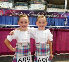 Twin kilts! #allendale #pink #tartan