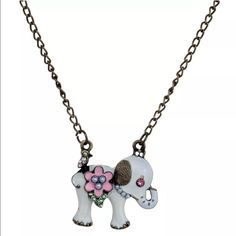 White elephant necklace New with tags Jewelry Necklaces