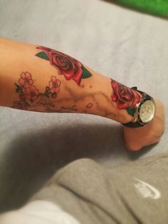 Roses and cherry blossoms