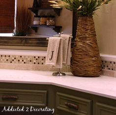 Five Money Saving Tips To Take Away From John U0026 Aliceu0027s Bathroom Makeover. Palm  Tree ...