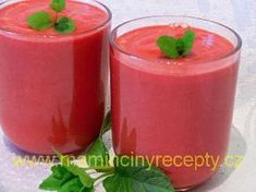 Mrkvové smoothie s řepou Smoothies, Panna Cotta, Detox, Juice, Food And Drink, Pudding, Yummy Food, Weight Loss, Drinks