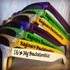Mardi Gras/Big Easy sunglasses for by GreenBridalBoutique on Etsy