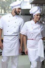 PAGAMENTO ANCHE ALLA CONSEGNA Grembiule Cuoco Uomo Donna da Lavoro Cucina  Chef Ristorante Abbigliamento Abiti 72975eed2c83
