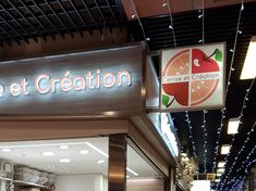 Enseigne Bloc led à Lyon pour Cerise et Création Lyon, Made In France, Creations, Neon Signs, Applique Letters, Cherry, Flag