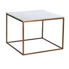 Tisch aus Marmor mit Kupferantikgestell - desiary.de