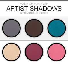 Swatch Saturday: Make Up For Ever Artist Shadows (Satin & Matte Finishes)
