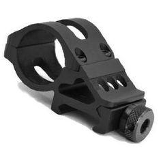 "1"" 25mm Diameter Offset Ring 20mm Rail 45 Degree Side Picatinny Mount for Flashlight/laser Surefire Light - http://www.binocularscopeoptics.com/1-25mm-diameter-offset-ring-20mm-rail-45-degree-side-picatinny-mount-for-flashlightlaser-surefire-light/"