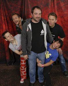 Mark Sheppard, Mark Pellegrino and Sebastian Roche