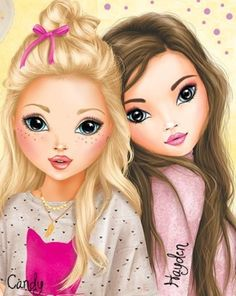 Best Friends Cartoon, Friend Cartoon, Cute Friends, Cartoon People, Best Friend Drawings, Girly Drawings, Cute Cartoon Girl, Cute Love Cartoons, Bff Pictures