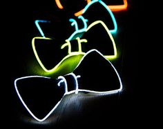 Light Up Bow Tie Neck Glow in the Dark Light Up by NeonNightlife neon Light In The Dark, Light Up, Neon Accessories, Wedding Accessories, Blacklight Party, Neon Glow, Glow Party, Glow Sticks, Cozy Mysteries