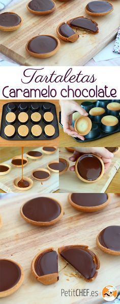 Caramel and chocolate tarts, Ptitchef recipe - tarte pie -You can find Tarts and more on our website.Caramel and chocolate tarts, Ptitchef recipe - tarte pie - No Cook Desserts, Mini Desserts, Chocolate Desserts, Delicious Desserts, Dessert Recipes, Yummy Food, Chocolate Tarts, Chocolate Coffee, Homemade Chocolate