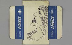Exclusive for the Telegraph, a sketch on cigarette packet drawn by David Bowie in Berlin, 1976