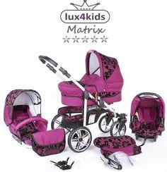 Pram Pushchair Dino Swivel Wheels 3in1 From Lux4kids 3in1