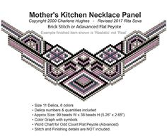 Mother's Kitchen Necklace Panel | Bead-Patterns.com