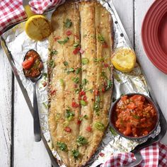 Recipe for Braaied Apricot Snoek – serve with olives and coriander Ingredients 2 red peppers tablespoons) olive oil 1 onion, chopped 2 cloves garlic, crushed 1 can … Braai Recipes, Barbecue Recipes, Oven Recipes, Fish Recipes, Seafood Recipes, Cooking Recipes, Healthy Recipes, Fish Dishes, Seafood Dishes
