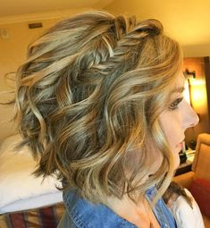 Wavy Bob with Fishtail Braid