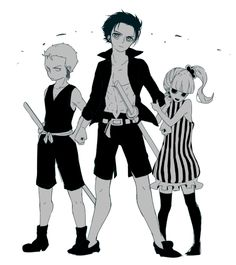 """I really love this style! Zoro, mihawk and perona are such adorable children! itoitonomi: """"ワンピらくがきログ by ぺけまる """""""