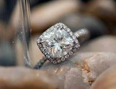 Round Halo Engagement Rings On Finger 43