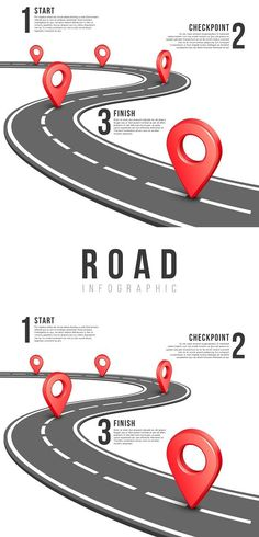 Road infographic vector template. Travel Infographics. $4.00
