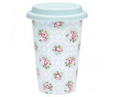 """GreenGate Travel mug """"Smilla mint"""""""
