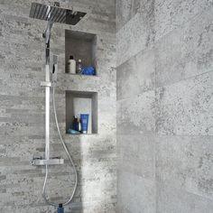 Carrelage mural d cor gris 30 x 60 cm grande norde - Credence salle de bain castorama ...