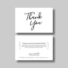 Arbonne Thank You Card (Script) - Digital Design by BellGraphicDesigns on Etsy https://www.etsy.com/au/listing/278673584/arbonne-thank-you-card-script-digital