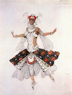 Le Dieu Bleu, Costume design for Tamara Karsavina as the Fiancée, 1911.Léon Bakst (Russian, 1866-1924).Watercolor and pencil. Harvard Coll...