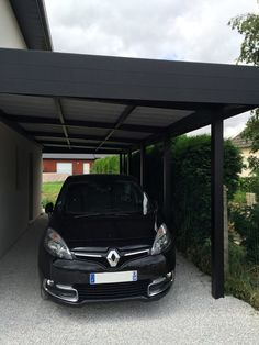 carport-avancee-aluminium-saint-omer-2 Carport Garage, Pergola Carport, Carport Aluminium, Modern Carport, Casa Patio, Carport Designs, Diy Garden Decor, Garages, Modern House Design
