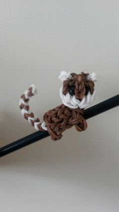 Monkey loom band pencil hugger