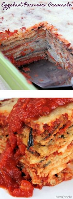 My favorite Eggplant Parmesan Casserole (and it's secretly diet-friendly) . The eggplant is thinly breaded and baked with just a mist of oil before stacking, so it isn't greasy or fattening, but has t (Meditteranean Diet Recipes)