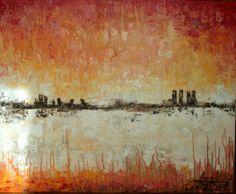 Skyline - Oil on canvas - 100x81cm