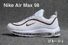 super popular 20612 cbe9c Mens Nike Air Max 98 QS KPU Brown White 640744 065 Athletic Sneakers Mens  Nike Air
