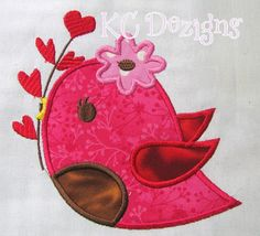Etsy listing at https://www.etsy.com/listing/173592434/valentine-love-bird-with-hearts-machine