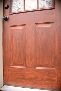 How To Create A Faux Wood Finish | Interior Design | Pinterest | Woods,  Doors And House