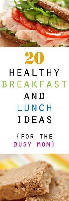 20 Healthy Breakfast and Lunch Ideas #eathealthy  #healthyrecipe