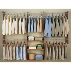 Easy Track Closet 4   8 Ft. Deluxe Closet Starter Kit   Wood Closet  Organizers At Hayneedle | Storage/Closets | Pinterest | Track, Products And  Wood Closet ...