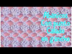 Puntada de abanicos en gancho para mantita de bebe #22 - YouTube