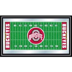 Trademark Games Ohio State Buckeyes Framed Football Field Mirror, Team