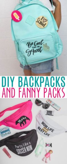 These DIY Backpacks and Fanny Packs could be really useful in getting the kids organized and keeping all of their belongings together. #sewing #sewingideas #sewingprojects #easysewingideas #sewingprojectsforbeginners #sewingforbeginners #sewingprojectsforteens #easysewingideas #sewingtips Diy Sewing Projects, Sewing Projects For Beginners, Diy Projects For Teens, Diy For Teens, Crafts For Teens, Sewing Hacks, Fun Projects, Sewing Tutorials, Sewing Patterns