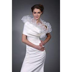 envelopper sans manches en organza veste en satin de mariée mariage / (wsm0415) de 2015 à €25.64