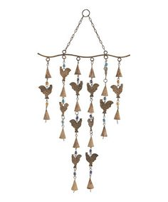 Look at this #zulilyfind! Bronze Rooster Wind Chime #zulilyfinds