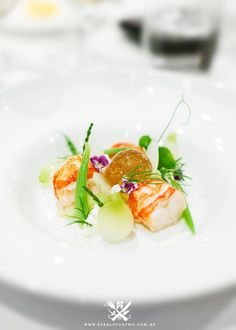 QUAY, The Rocks, Sydney {Poached South Australian Marron with Seaweed Jelly, Julienne of Cucumber, Fennel and Baby Onion Bulbs}