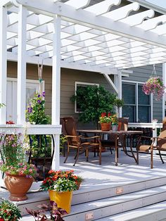 Yep. I want a pergola when I eventually get my patio (or deck)