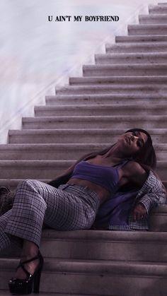 u ain't my boyfriend Ariana Grande Lyrics, Ariana Grande Fotos, Ariana Grande Outfits, Ariana Grande Pictures, Ariana Grande Wallpapers, Ariana Grande Boyfriend, Thank U, Dangerous Woman, Ex Girlfriends