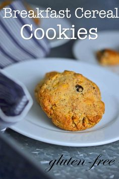 Gluten-Free Breakfast Cereal Cookies - oat-free breakfast on the go!
