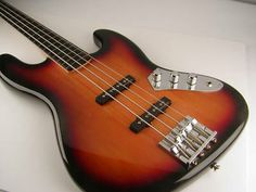 Day 117 - Squier fretless bass. I'm performing in a swing band soon and this is the perfect excuse to use my modified fretless.