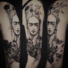 """Frida Kahlo  #coveruptattoo . Thank you """
