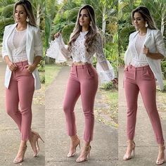 Beautiful Business Casual Attire for the Ladies For any graduates or recent professionals who are about to start working or working already and need some ideas about the appearance of a casual b… Look Fashion, Fashion Outfits, Womens Fashion, Feminine Fashion, Fashion Heels, Lingerie Look, Mode Jeans, Business Casual Attire, Elegant Outfit