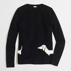 J.Crew Factory wraparound dachshund sweater